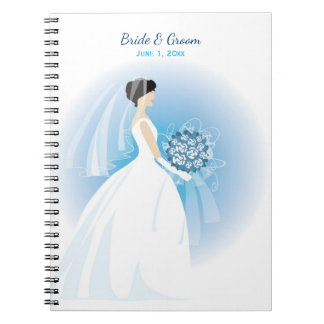 Blue Bouquet Wedding Notebook