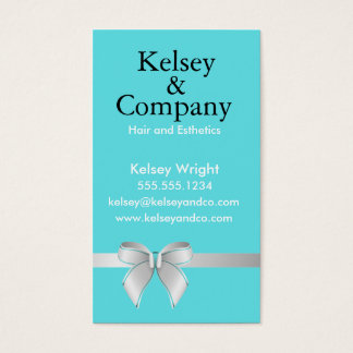 Blue Bow Business Card