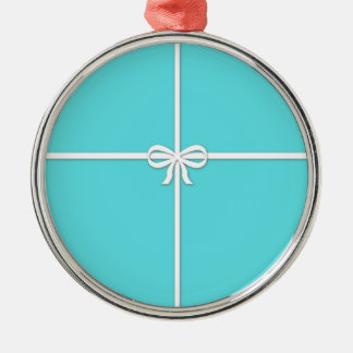 Blue box metal ornament