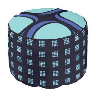 Blue Box Mod 60s Geometric Pattern Pouf