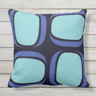 Blue Box Mod 60s Geometric Pattern Throw Pillow