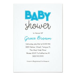 Blue Boy Baby Shower Invitation