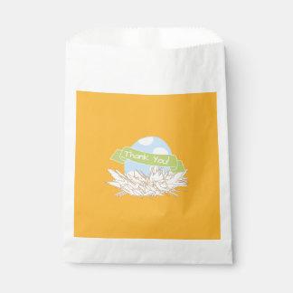 Blue Boy Baby Shower Modern Nature Favor Bag