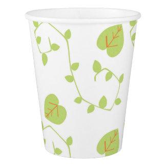 Blue Boy Baby Shower Modern Nature Vine Paper Cups