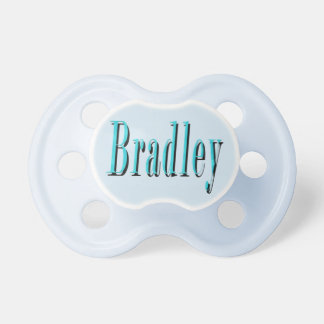 Blue Bradley Name Logo, Pacifier
