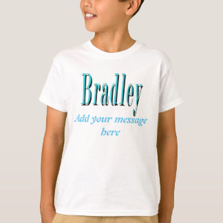 Blue Bradley Name Logo, T-Shirt