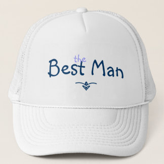 Blue Braid Best Man Hat