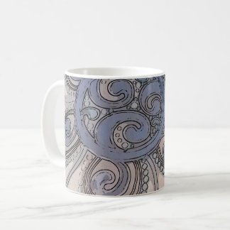 "Blue ""Brain Wave"" Design Mug"