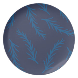 Blue Branches Dinnerware Plate