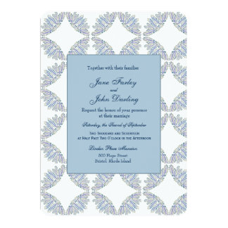 Blue Branches Wedding Invitation