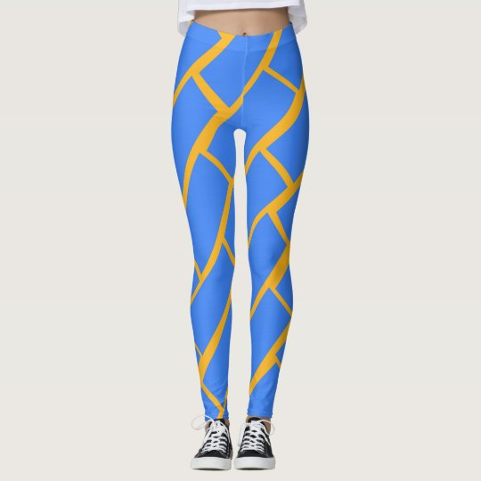 Blue Brick Leggings