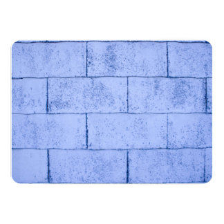 Blue Brick Pattern Card