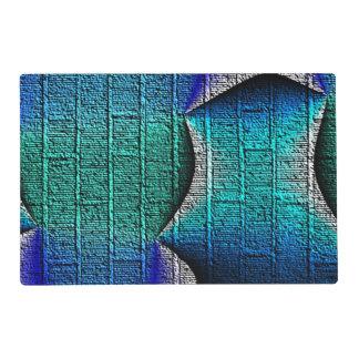 Blue brick pattern laminated place mat