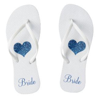 Blue Bride Flip Flops