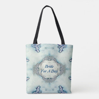 "Blue ""Bride For A Day"" Bridal Tote"