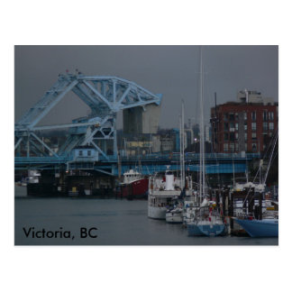 Blue Bridge Victoria, BC Postcard