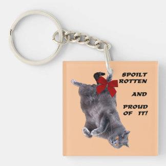 Blue British Shorthair Cat funny key chain