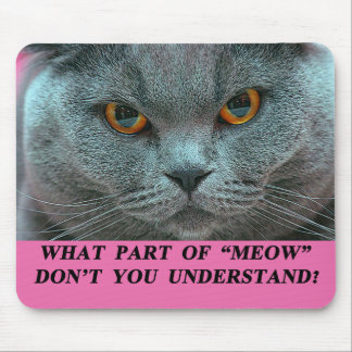 Blue British Shorthair mousepad