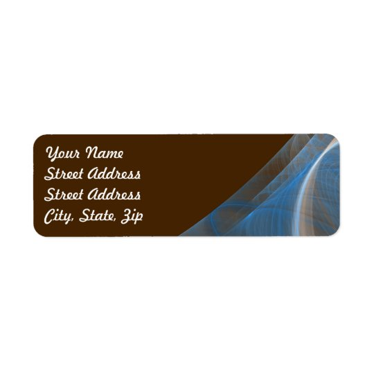 Blue & Brow Frac Background Return Address Sticker