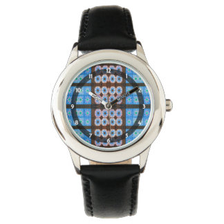 blue brown abstract pattern watch