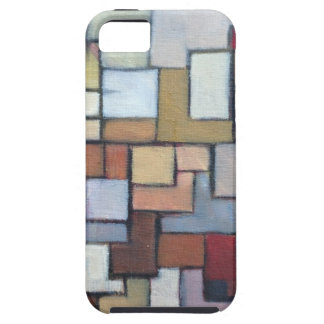 Blue Brown Abstract Urban Art Original Case For The iPhone 5