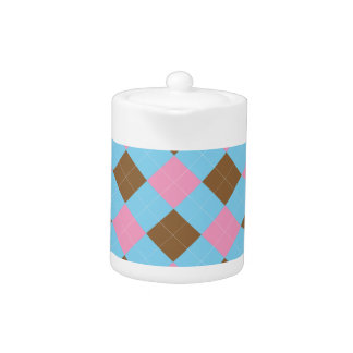 Blue, brown and pink plaid pattern