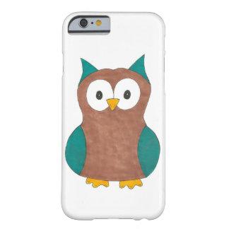 Blue Brown Cute Cartoon Owl Bird Smartphone Case