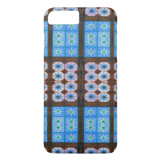 Blue Brown Flower Pattern iPhone 7 Plus Case