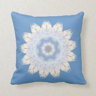 Blue Brown Native American Design, First Nations, Throw Pillow