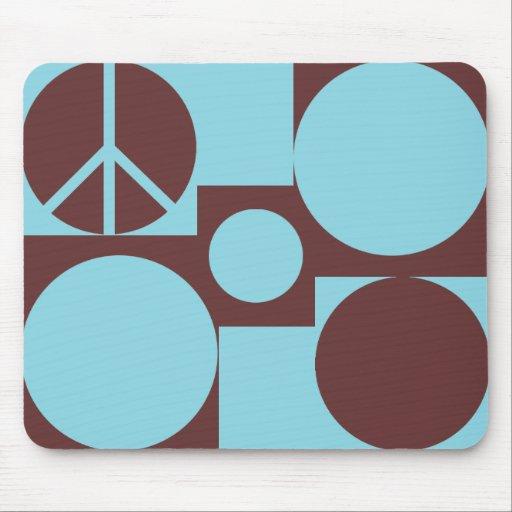 Blue & Brown Peace Dots Mouse Mats