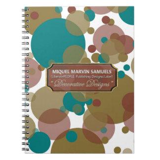 Blue Brown Purple Bubbles Modern Notebook