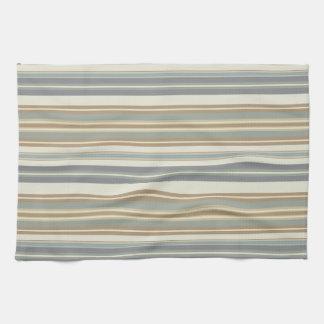 Blue & Brown Stripe Kitchen Towel