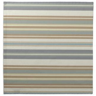 Blue & Brown Stripe Napkin