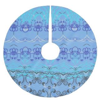 blue brushed polyester tree skirt