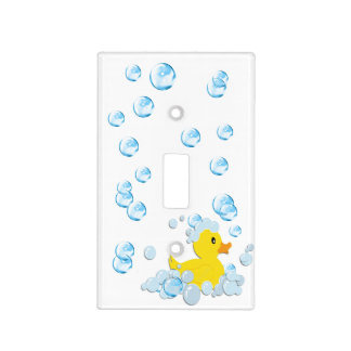 Blue Bubble Bath Baby Light Switch Cover
