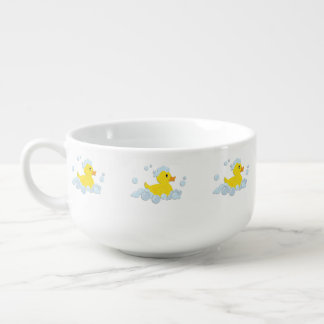 Blue Bubble Bath Baby Soup Mug