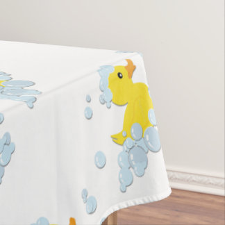 Blue Bubble Bath Baby Tablecloth