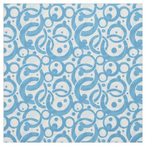 Blue Bubble Fabric