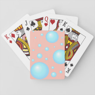 blue bubble playing cards