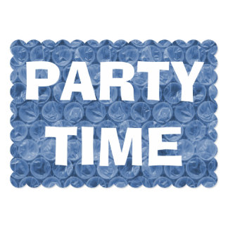 Blue bubble wrap birthday party invitation