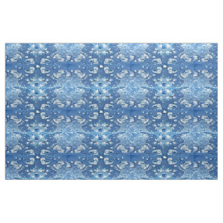 Blue Bubbles Ice Water Abstract Pattern Fabric