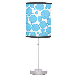 Blue Bubbles Lightened Lamp