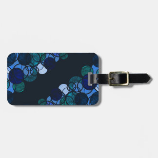 Blue bubbles luggage tag