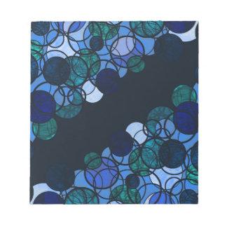 Blue bubbles notepads