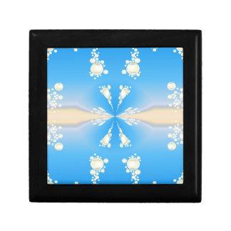 Blue bubbly pattern gift box