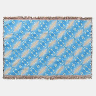 Blue bubbly pattern throw blanket