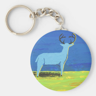 Blue Buck Keychain