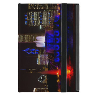 Blue Buckingham Fountain Cover For iPad Mini