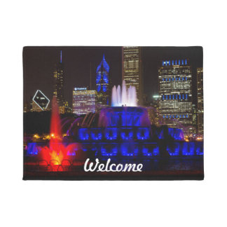Blue Buckingham Fountain Doormat
