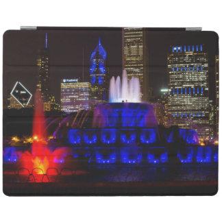 Blue Buckingham Fountain iPad Cover
